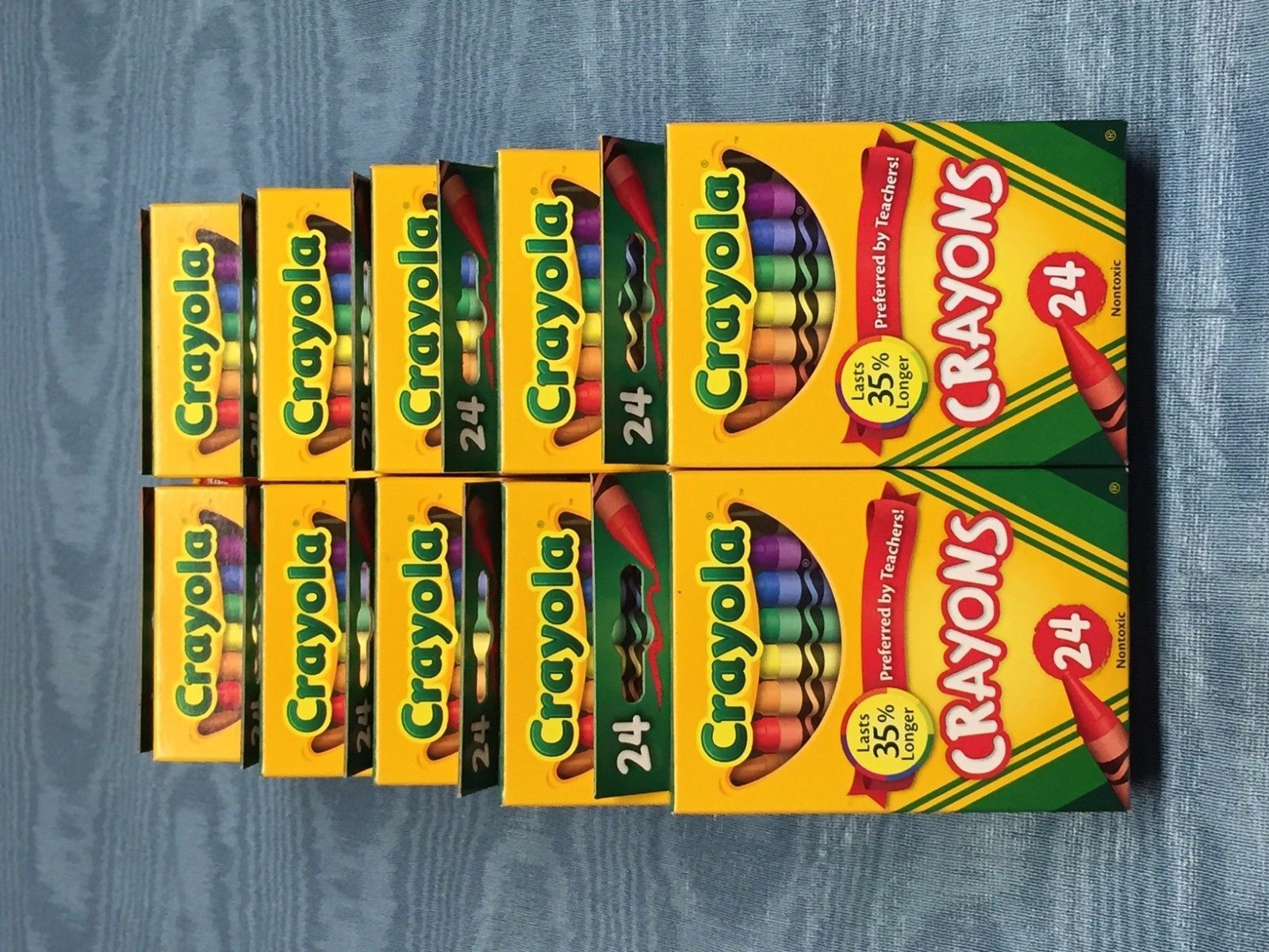 ten 10 boxes of 24 crayola crayons with and 50 similar items