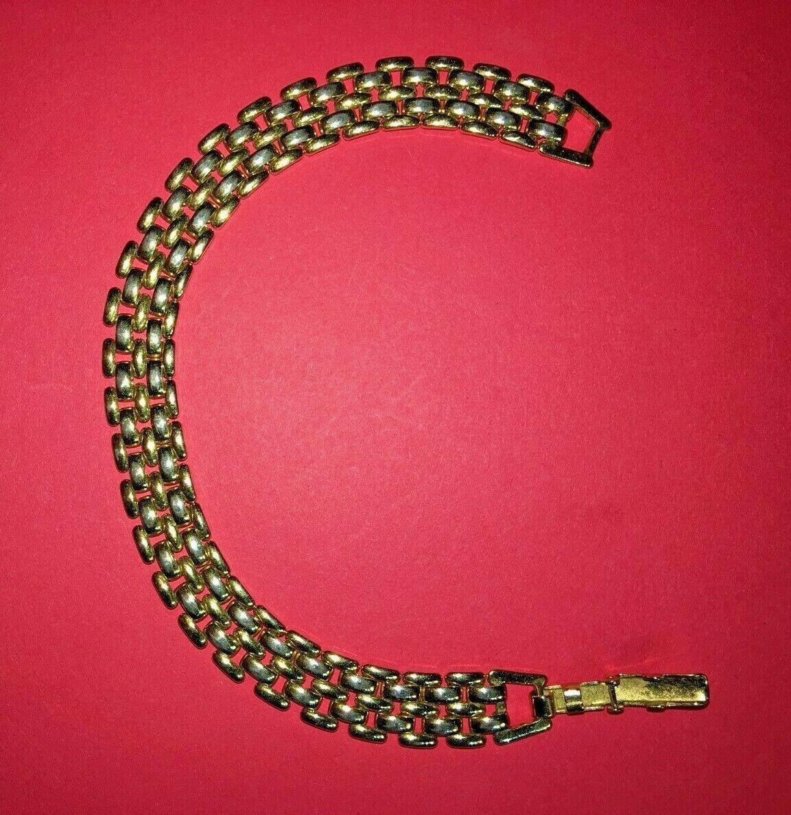 Vintage Avon link bracelet signed gold tone