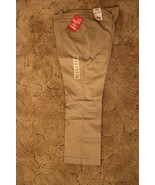 Dickies Girl's School Uniform Flare Flat Front Wide Band Khaki Sz 19 Jr ... - $14.80