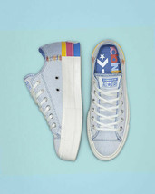 NIB*Converse All Star Rainbow Platform Low Top*Ozone Blue Multi*5-10*Sne... - $125.00