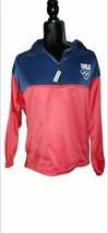 London United States Olympic Committee Unisex 1/4 Zip Pullover Red Color... - $33.65