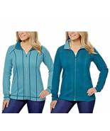 Kirkland Signature Women's Reversible Full Zip Jacket Green   Sz L - $13.79