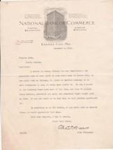 U.S. National Bank of Commerce Kansas 1909 Illustrated Bank Use Letter R... - $9.90