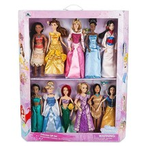 Disney Store Princess Classic Doll Collection Gift Set New with Box - $172.47