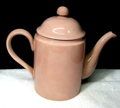 1978 Fitz & Floyd Total Color Dusty Rose Or Coral Peach Coffee Pot 5 Cup NICE! - $39.60