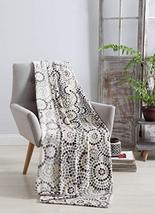 All American Collection Constance Velvet Grey Plush Throw | Decorative A... - $19.79
