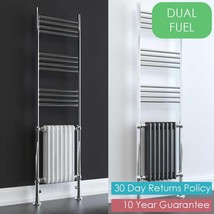 AURA Dux Traditional DUAL FUEL Heated Towel Rail & Column Radiator, Classic - ₨26,015.08 INR
