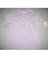 Marshall Field's Baby dress sz 6 mos lavender velour NEW  - $9.00