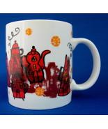 Mug Starbucks Red And Black Teapot Coffeepot Houses Coffee 2000 - $18.00