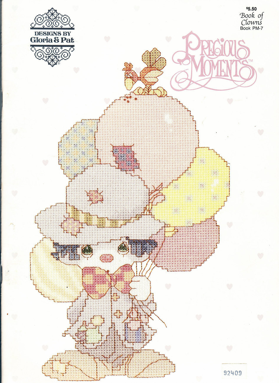 COUNTED CROSS STITCH PRECIOUS MOMENTS BOOK OF CLOWNS PM-7