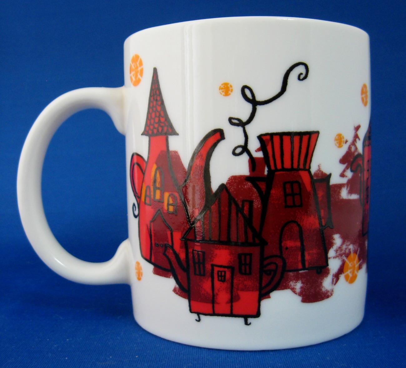 Mug Starbucks Red And Black Teapot Coffeepot Houses Coffee 2000