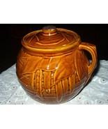Vintage McCoy Brown Leaf Pattern Cookie Jar/Cannister - $68.00