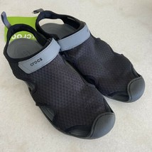 Crocs Womens Swiftwater Mesh Water Sandals Shoes Size US 11 Black Grey N... - $49.49