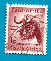 South African Postage Stamp 1961 Local Animals Stamps of 1954 with New C... - $1.99