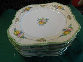 "Great HANDPAINTED Dinnerware Made in Japan Set of 8 DESSERT Plates 8""x8"" - $24.34"