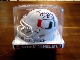 JIM KELLY MIAMI HURRICANES HOF SIGNED AUTO RIDDELL MINI HELMET JSA AUTHE... - $148.49
