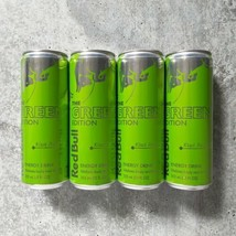 RED BULL THE GREEN EDITION KIWI APPLE ENERGY DRINK 12 FL OZ - 4 PACK - E... - $44.54