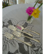 "Gorham - ""Invitation"" - Lot of 4 Vintage 1940 Silverplate Salad Forks - $25.00"