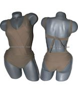 NWT ROSA CHA taupe ruched draped swimsuit Brazi... - $121.54