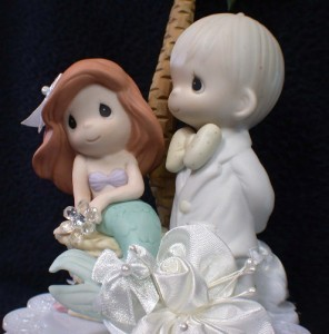 little mermaid precious moments wedding cake topper p wedding cake toppers. Black Bedroom Furniture Sets. Home Design Ideas
