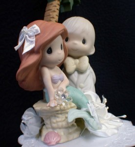 precious moment wedding cake topper mermaid precious moments wedding cake topper p 18717