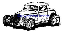 1940's FORD AUTO NEW RELEASE mounted rubber stamp