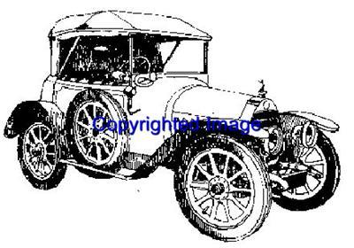 1913 VINTAGE AUTO NEW RELEASE mounted rubber stamp