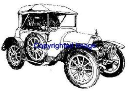 1913 VINTAGE AUTO NEW RELEASE mounted rubber stamp - $8.10