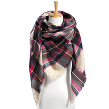 "Top quality Winter Scarf Plaid Scarf Designer Unisex Acrylic Basic Shawls Women"" image 1"