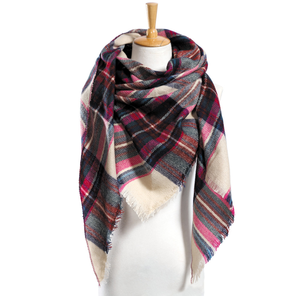 Top quality Winter Scarf Plaid Scarf Designer Unisex Acrylic Basic Shawls Women""
