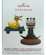 Hallmark 2019 Scary Teddy And Undead Duck Limited Special Edition - $29.99