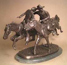 Artistic Solutions Wounded Bunkie American Bronze Handmade Sculpture By Frederic - $482.64