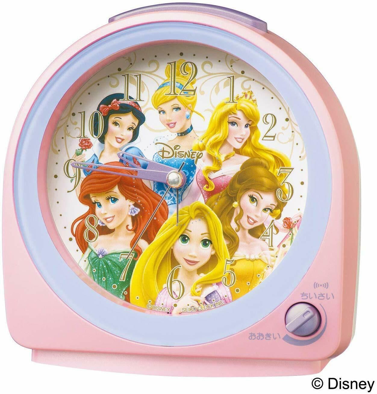 Primary image for Disney Princess Alarm Clock Pink Pearl Cute Gift