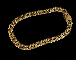 Vintage Zina of Beverly Hills Sterling Silver Gold Heavy Wheat Chain Nec... - £345.39 GBP