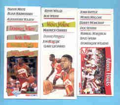 1991/92 Hoops Atlanta Hawks Basketball Set  - $2.99