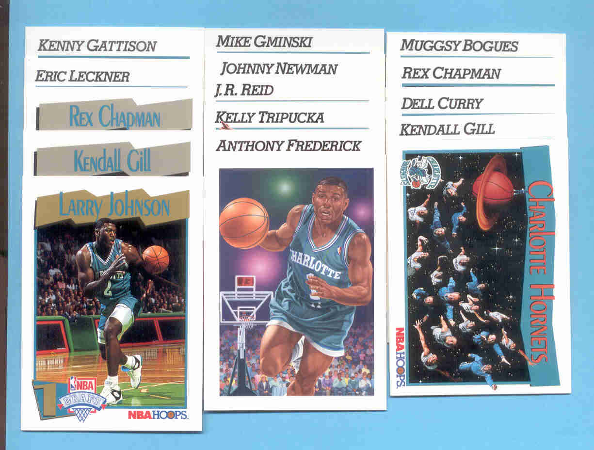 1991/92 Hoops Charlotte Hornets Basketball Set