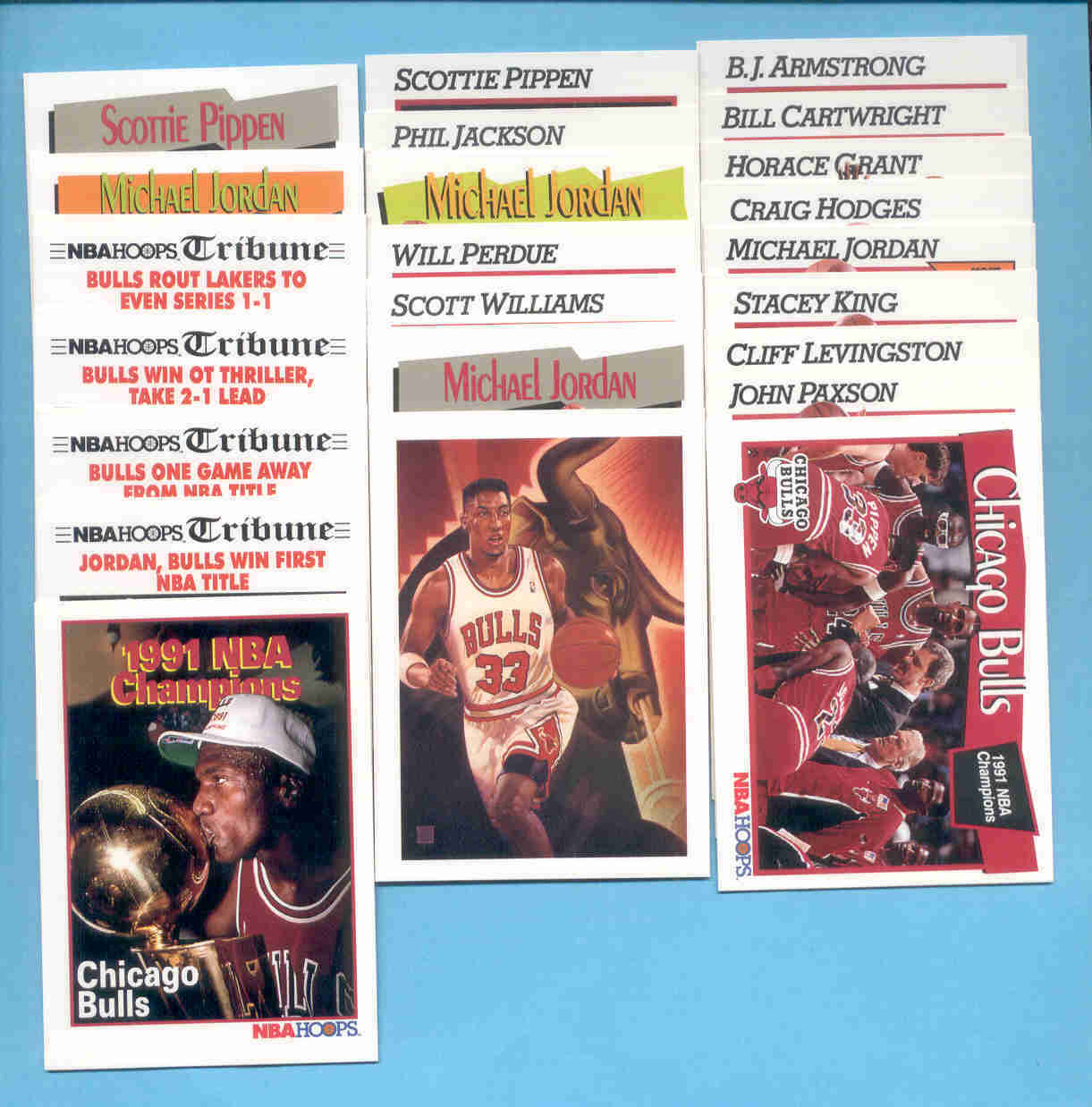 1991/92 Hoops Chicago Bulls Basketball Team Set
