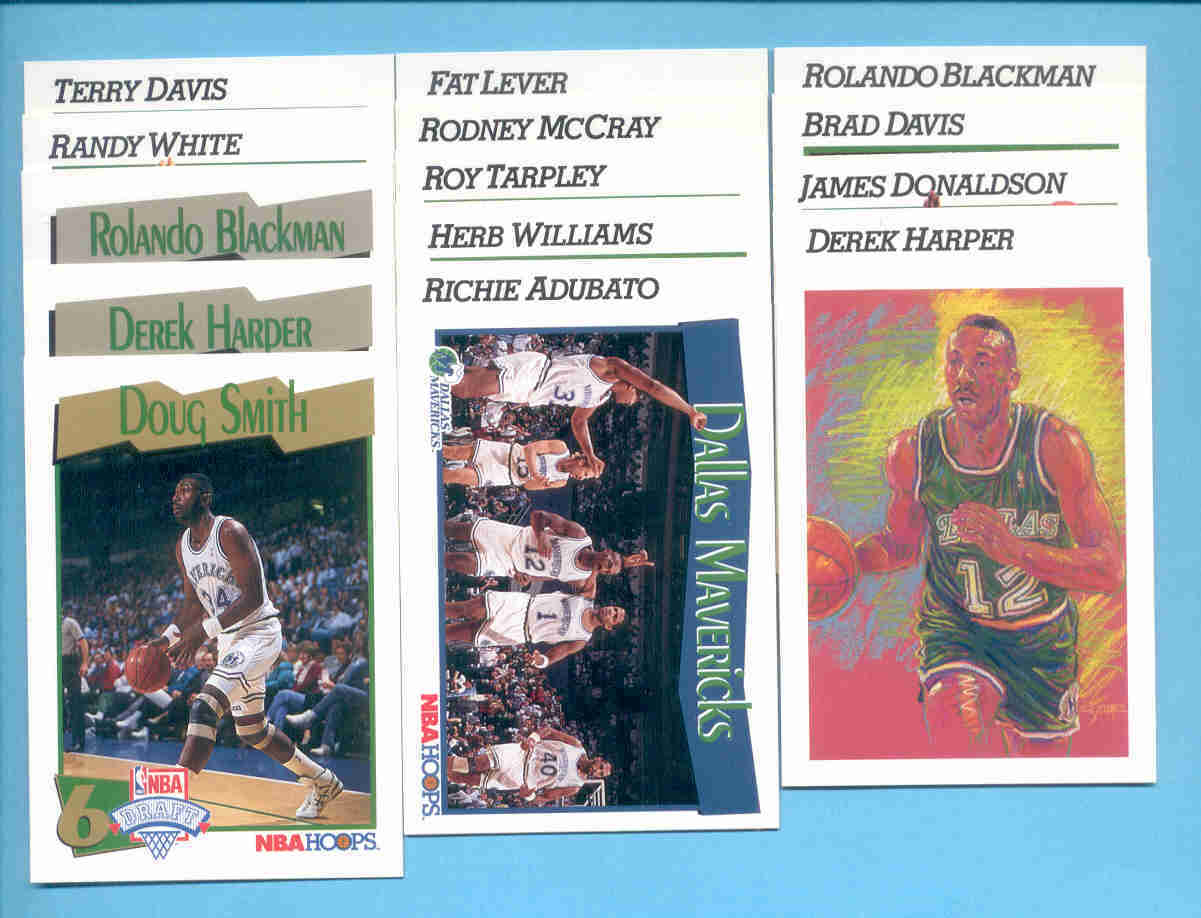 1991/92 Hoops Dallas Mavericks Basketball Team Set