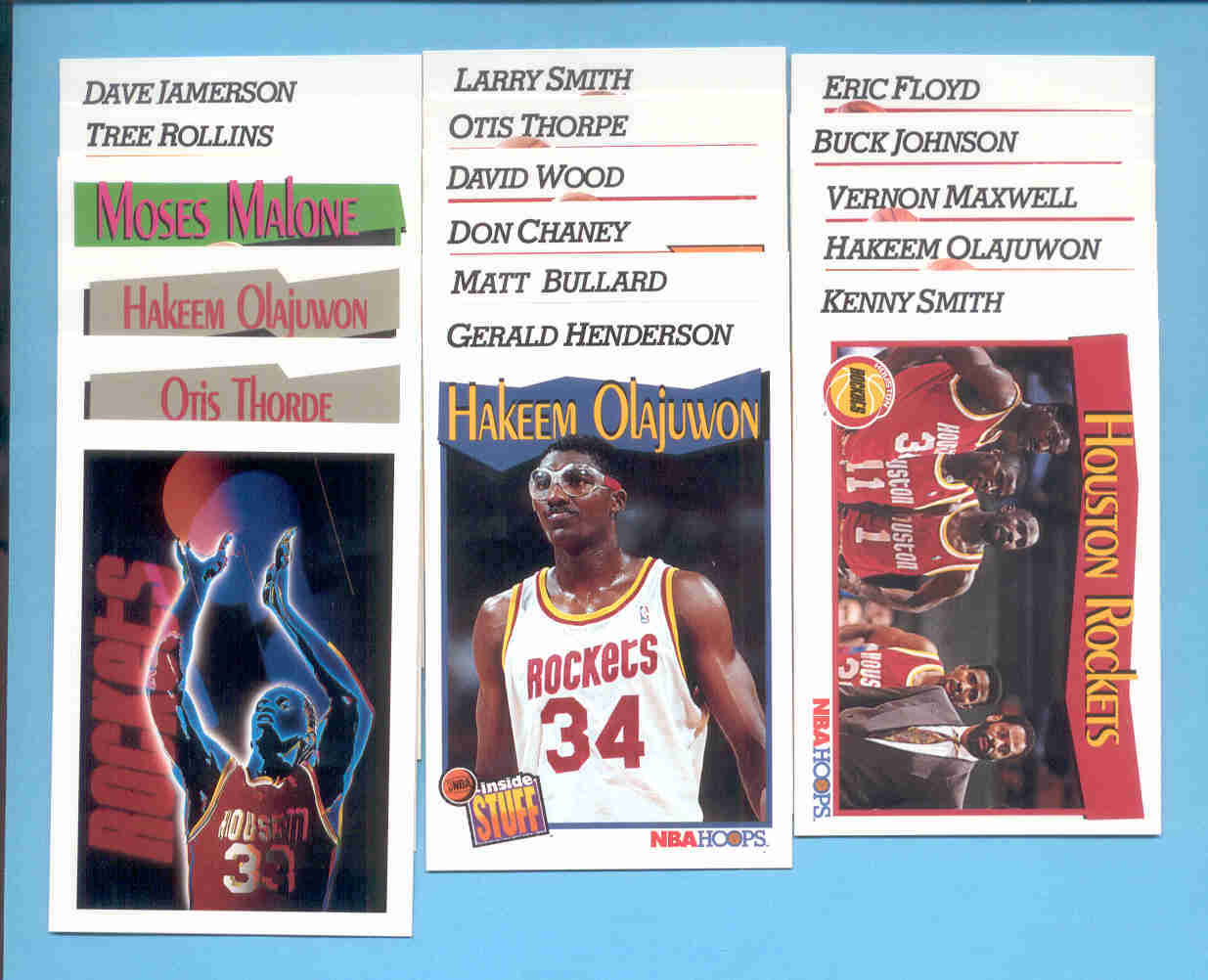 1991/92 Hoops Houston Rockets Basketball Team Set
