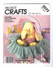 McCall's Crafts 2975 BABY CHICK IN A BASKET Enchanted Forest Pattern - $6.95