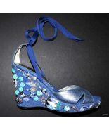 NEW BEVERLY FELDMAN platform wedge shoes embell... - $169.48