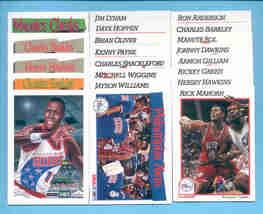 1991/92 Hoops Philadelphia 76ers Basketball Team Set  - $2.50