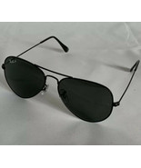 Ray-Ban RB3025 Large Metal Black Aviator Sunglasses 002/58 Green G15 Lenses - $56.13