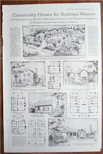 Primary image for 1919 Illust. Article Community Homes for Business Women
