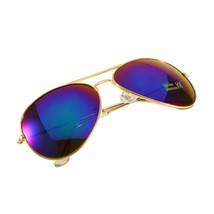 Occhiali da Sole da Uomo Aviator Specchio da Pilota Moda Classic Blu Oro Gold - $6.61