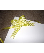 10 Yellow Striped Pull Bows - $4.50