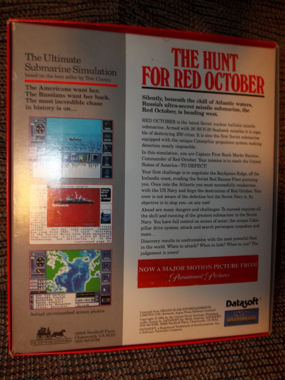 The Software Toolworks Tom Clancy The Hunt for Red October