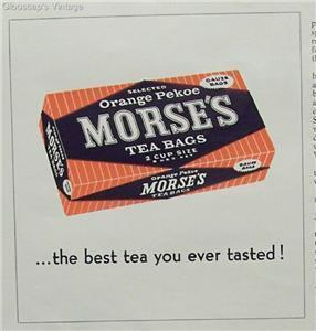 Primary image for 1962 Ad Morse's Orange Pekoe Tea Bags Best Ever Tasted