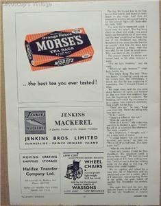 1962 Ad Morse's Orange Pekoe Tea Bags Best Ever Tasted