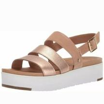 Women's Shoes Ugg Braelynn Metallic Leather Platform Sandals Sz Us 7.5 /EUR 38.5 - $64.34